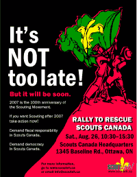 Small Rescue Rally poster